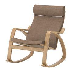 POÄNG Rocking-chair - Isunda brown, oak veneer - IKEA