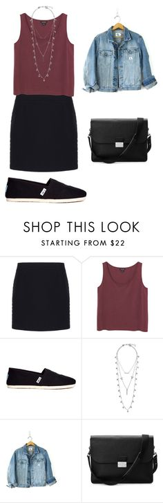 """""""Untitled #102"""" by aero1blue ❤ liked on Polyvore featuring Balenciaga, Monki, TOMS, Lucky Brand, Calvin Klein, Aspinal of London, women's clothing, women, female and woman"""