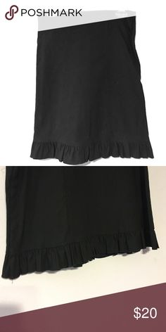 Selling this Black pencil skirt with ruffled bottom on Poshmark! My username is: katiebat. #shopmycloset #poshmark #fashion #shopping #style #forsale #top 10 USA #Dresses & Skirts