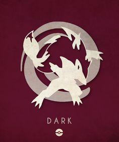 Pokémon Types Poster Series: Dark - Timmy Burrows