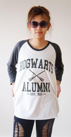 S, M, L -- Hogwarts Alumni TShirt Harry Potter TShirt . Yes, I AM a geek. deal.