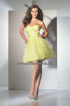Kurzes Abendkleid in Gelb von www.online-mode.biz