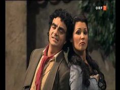 """Song of the opera """" L'elisir d'amore """", recorded in 2005. Led by Anna Netrebko(Adina), Rolando Villazón (Nemorino) and Ildebrando d'Arcangelo (Dulcamara). Directed by Otto Schenk."""