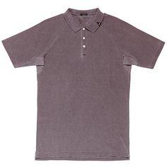 Buy Denham Laundered Polo Shirt, Mulberry, S Online at johnlewis.com