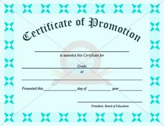 promotion certificate template - 6th Grade Graduation Certificate Template