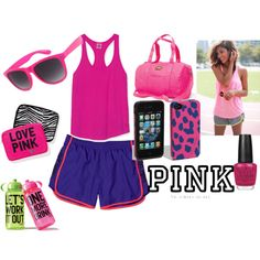 """""""Live in What You Love with Victoria's Secret PINK"""" by sofiavictoria55 on Polyvore"""