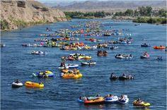 Salt River Tubing #travel #phoenix going again tomorrow .. So excited