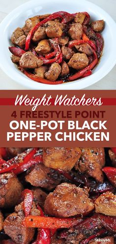 Recipes With Chicken And Peppers, Chicken Stuffed Peppers, Chicken Recipes, Low Calorie Dinners, Low Calorie Recipes, Clean Eating Recipes, Healthy Eating, Cooking Recipes, Black Pepper Chicken