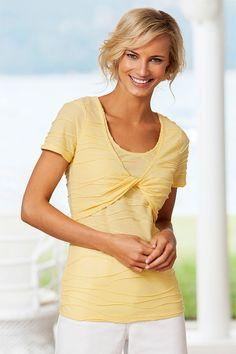 Tshirts - Tops - Capture Textured 2 in 1 Top - EziBuy Australia 2 In, Fasion, Kids Fashion, Lemon Sorbet, Texture, Clothes For Women, Fashion Online, Women's Tops, T Shirt