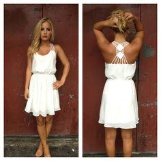 Strappy Back Detail Dress | 25 Dreamy Reception Dresses Under $150