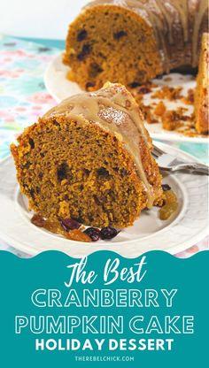 Cranberry Pumpkin Holiday Cake Recipe