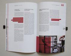 Magazine, mise en page, layout, graphisme, couleurs, illustration, robot original Plus