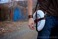 Ultimate frisbee leather sling  case  by DownToTheRootStudio, $68.00 oHohoho so getting this.