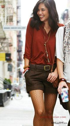 52 Wonderful Bermuda Shorts Ideas For This Winter Woman Shorts and Bermudas bermuda shorts woman within Short Outfits, Fall Outfits, Cute Outfits, Winter Shorts Outfits, Trendy Outfits, Look Fashion, Fashion Outfits, Womens Fashion, Fall Fashion