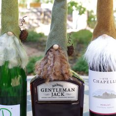 Another fun project finished!  Woodland gnome wine bottle toppers!!  I do love the center gnome on that particular bottle - what a crack up!!!  ENJOY! Sharon
