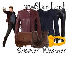 """""""Star-Lord"""" by tallybow ❤ liked on Polyvore featuring moda, Yves Saint Laurent, Fat Face, Jigsaw, Anna Field, Urbanears y Frye"""