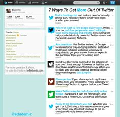 7 Ways To Get More Out Of Twitter  These are great and simple ways to get more out of Twitter. I know 'cause I've been doing just that this summer!