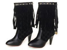 Zapatos Gucci Mujer TH46 Botas Gucci Mujer Color Puro y De Alta Calidad d52c37e5fe5