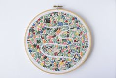 Floral Field is the first of three stunning designs illustrated by Lauren Merrick (that will be rolled out over the next three months) and turned into an embroidery pattern by Thread Folk for the collaborative project, the Artist Series. This is a beautiful stitching project with the downloadable PDF pattern including all the supplies you need as well as a simple to understand, visual stitch guide. This pattern, while very detailed, is full of simple embroidery stitches and perfect for…