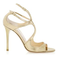 JIMMY CHOO Lang Gold Mirror Leather Sandals. #jimmychoo #shoes #s