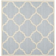Safavieh Handmade Moroccan Cambridge Light Blue/ Ivory Wool Rug (6' Square) | Overstock.com Shopping - Great Deals on Safavieh Round/Oval/Square
