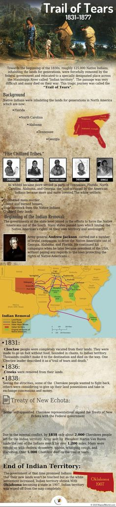 The federal forced the native indians out of their homelands to a specially designated place across the called Indian territory. The passage was very difficult and many died on their way. This tragic was called the History Trail of Tears Native American Tribes, African American History, American Indians, Native Americans, History Facts, World History, Family History, Cherokee Nation, Trail Of Tears