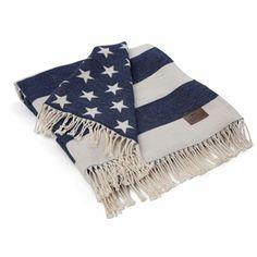Lexington Company Navy & White Flag Throw | The Organizing Store #lexingtoncompany