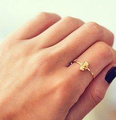 dainty #skull ring