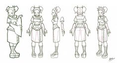 reference sheet for anime character in 3D - Pesquisa Google