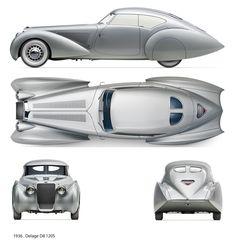 1937 Delage D8-120 S Pourtout Aero Coupe