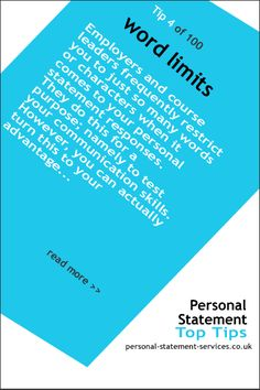 Personal statement word limits