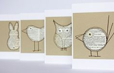 coole-ideen-basteln-mit-papier-karten-selber-machen-diy-karten-basteln-schöne-o… cool-ideas-tinker-with-paper-card itself-do-diy-cards-tinker-beautiful-original-ideas Diy Paper, Paper Art, Paper Crafts, Bird Crafts, Origami, Book Page Crafts, Old Book Crafts, Karten Diy, Old Books