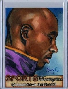 Kobe Bryant Los Angeles Lakers Sports Masterpiece 1/1 Sketch Card - Full Color