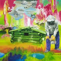 Artwork from exhibition by Stephen Bush, Eugene Carchesio, Rosslynd Piggott, David Rosetzky