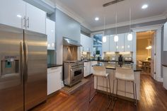 This newly-renovated house in D.C. has an open floor plan and amenities such as an LED Smart TV, a spacious dining room for entertaining, and one bathroom even has a whirlpool tub. But our favorite feature is the kitchen with high-end stainless steel appliances, including a commercial range, refrigerator, sink, and hood. Rate: $495/night   - HouseBeautiful.com