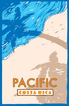 Items similar to Pacific Costa Rica on Etsy Costa Rica Art, Voyage Costa Rica, Costa Rica Travel, Beach Restaurant Design, Jungle Illustration, Postcard Art, Beautiful Posters, Vintage Travel Posters, Poster On