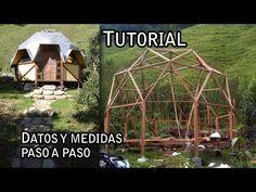 Tutorial - Datos y medidas para construir este Domo 3/5 - YouTube Garden Retreat Ideas, Yurt Home, Geodesic Dome Homes, Dome House, Garden Structures, Cabins In The Woods, Ideas Para, Outdoor Gear, Farmhouse Decor