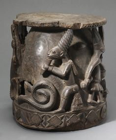 Africa | Stool from the Yoruba people of southwestern Nigeria | Wood | ca. 20th century