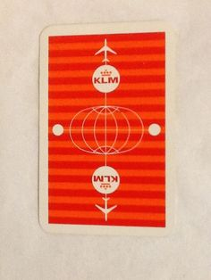 KLM Airlines Playing Cards Royal Netherlands Non Standard Face Cards One Deck