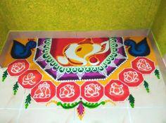 Ganpati special rangoli design