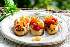 Cherry Tomato, Herb and Smoked Gouda Bruschetta