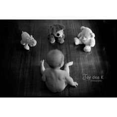 7 month old boy talking with his teddies