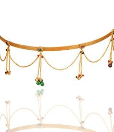 Goldencollections Designer Chain Gold Plated Kundan Waist Belt Bamar Bandh Kamar Patta Vaddanam For Women