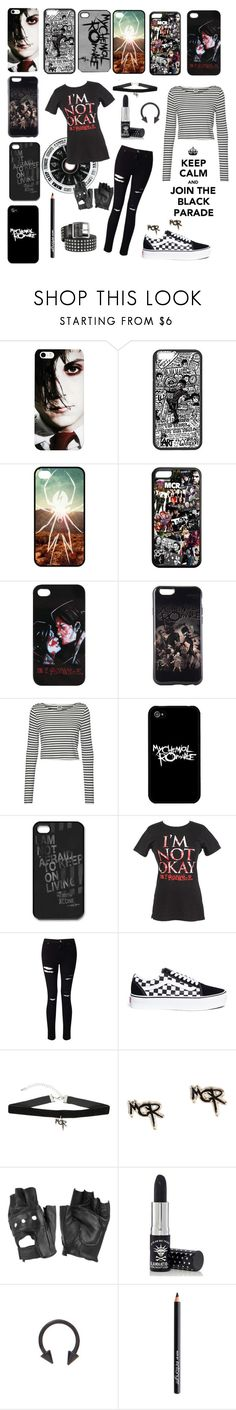 """""""my chemical romance phoncase"""" by majastina-2004 ❤ liked on Polyvore featuring Hot Topic, Vero Moda, Miss Selfridge, Vans, Charlotte Russe, Manic Panic NYC, Antonym and Alexander McQueen"""