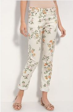 Citizens of Humanity Mandy High Waist Floral Print Jeans