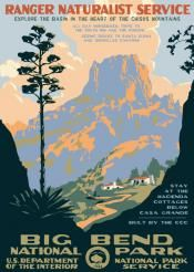 Big Bend National Park WPA-Style Poster via Ranger Doug