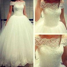 Kiváló minőségű Csipke menyasszonyi ruha esküvői ruha XXS-XXL KMBK740011MN