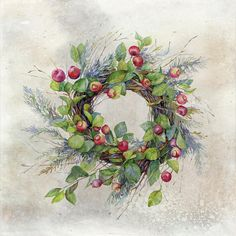 Woodland Berry Wreath Digital Art by Colleen Taylor