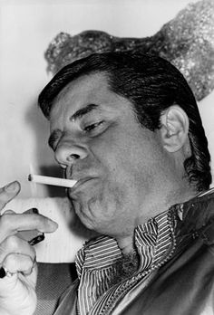 Jerry Lewis smoking a cigarette, 1970's.