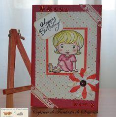 Card realizzata per il compleanno di una mia carissima amica. by Capricci di Fantasia di Simona